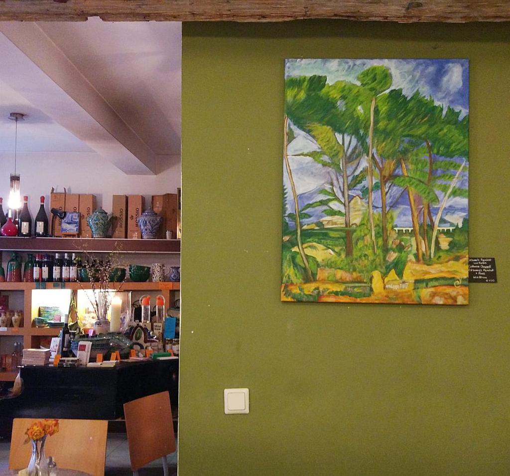 Foto eines Gemäldes der Ausstellung Impressionisten